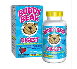 Buddy Bear Digest Digestive Enzyme Supplement for Children Berry
