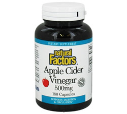 Apple Cider Vinegar 500 mg.