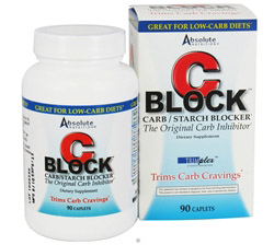 C-Block Carb & Starch Blocker Contains White Kidney Bean Extract