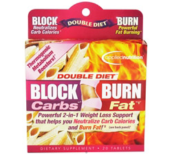 Double Diet Block Carbs Burn Fat with White Kidney Bean Extract