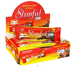 Sinfully Delicious 90 Calorie Chew Bar Cocoa Brownie - 12 x .92 oz (26g) Bars