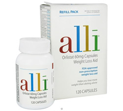 Orlistat Weight Loss Aid Refill Pack 60 mg.