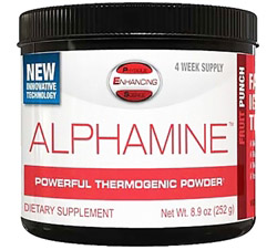 Alphamine Powerful Thermogenic Powder Fruit Punch - 4-Week Supply