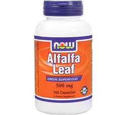 Alfalfa Leaf Organic, Non-GE 500 mg.