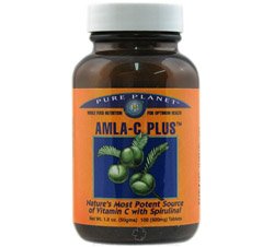 Amla-C Plus Natural Vitamin C Tablets 500 mg.