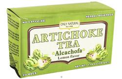 Artichoke Tea Alcachofa Caffeine Free Lemon Flavor