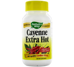 Cayenne Extra Hot 450 mg.