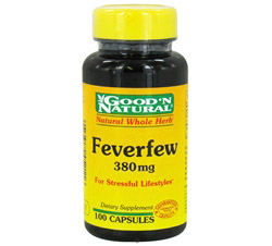 Feverfew Natural Whole Herb For Stressful Lifestyles 380 mg.
