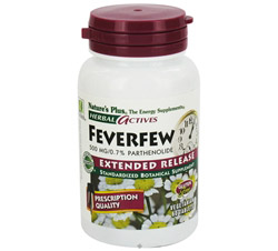 Herbal Actives Extended Release Feverfew 500 mg.