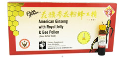 American Ginseng Extract with Royal Jelly and Bee Pollen 10 x 10 cc Bottles