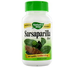 Sarsaparilla Root 450 mg.