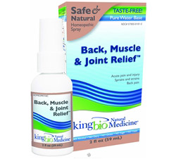 Homeopathic Natural Medicine Back Muscle & Joint Relief