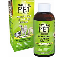 Natural Pet Muscle, Joint & Arthritis Reliever For Felines Large