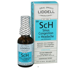 SCh Sinus Congestion + Headache with Echinacea Homeopathic Oral Spray