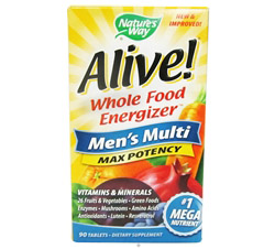 Alive Men's Multi Max Potency (formerly Men's Multi Vitamin & Mineral Whole Food Energizer)