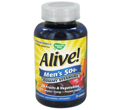 Alive Men's 50+ Gummy Vitamins