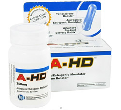 A-HD Ultra-Concentrated Testosterone Booster 250 mg.
