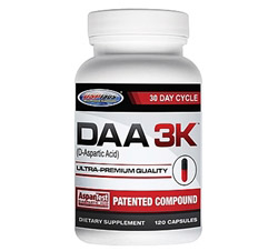 DAA 3K D-Aspartic Acid Ultra-Premium Quality 30 Day Cycle 3,000 mg.