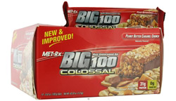 Big 100 Colossal Meal Replacement Bar Peanut Butter Caramel Crunch CLEARANCE PRICED