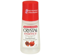 Crystal Essence Mineral Deodorant Roll On By French Transit Pomegranate
