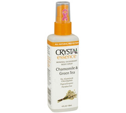 Crystal Essence Mineral Deodorant Body Spray By French Transit Chamomile & Green Tea