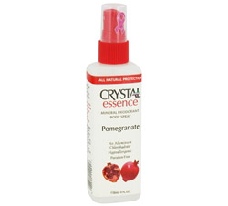 Crystal Essence Mineral Deodorant Body Spray By French Transit Pomegranate