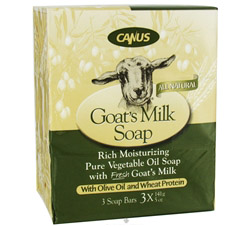 Goat's Milk Bar Soap with Olive Oil and Wheat Protein 3 x 5 oz. Soap Bars