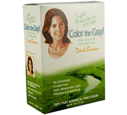 Color The Gray Hair Color & Conditioner Kit Dark Brown