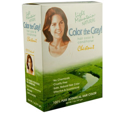 Color The Gray Hair Color & Conditioner Kit Chestnut