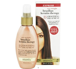 14 Day Express Smoothing Treatment Ever Straight Brazilian Keratin Therapy