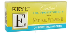 Key-E Suppositories With Natural Vitamin E