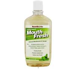 Mouth Fresh Natural Mouthwash & Gargle Refreshing Peppermint Flavor
