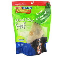 Natural Filled Hoof Dog Chew Bully Stick Flavor