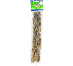 Natural Braided Bully Sticks Dog Chews 12 in. CLEARANCE PRICED