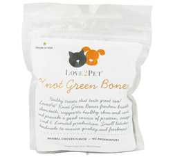 Knot Green Bones Medium/Large For Dogs Natural Chicken Flavor
