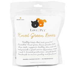 Knot Green Bones Small/Medium For Dogs Chicken Flavor