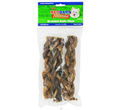Natural Braided Bully Sticks Dog Chews 7 in.