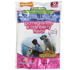 Healthy Living Dog Chews Pomegranate & Cranberry Flavor