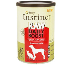 Instinct Raw Daily Boost Powder Supplement Beef Formula DAILY DEAL