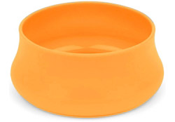 Squishy Dog Bowl Trail Size Tangerine