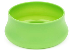Squishy Dog Bowl Trail Size Lime
