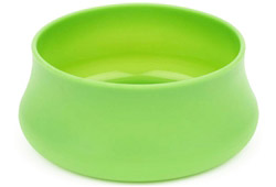 Squishy Dog Bowl Park Size Lime
