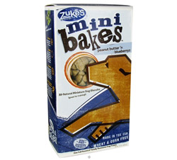 All- Natural Mini Bakes Dog Biscuits Peanut Butter 'N Blueberryz