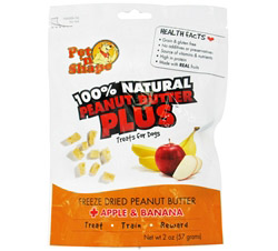 100% Natural Peanut Butter Plus Treats For Dogs Apple & Banana DAILY DEAL