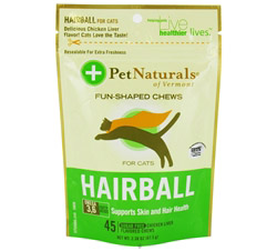 Hairball Soft Chews For Cats Chicken Liver Flavored
