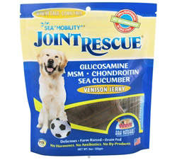 Sea Mobility Joint Rescue Jerky Strips For Dogs Venison