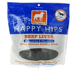 Happy Hips With Glucosamine & Chondroitin Beef Liver Jerky