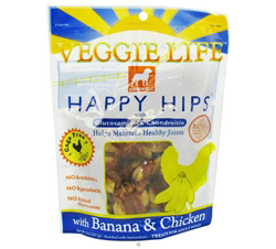Veggie Life Happy Hips With Glucosamine & Chondroitin Banana & Chicken Jerky CLEARANCE PRICED