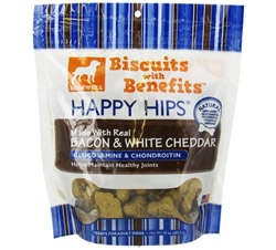 Happy Hips Biscuits With Benefits With Glucosamine & Chondroitin Bacon & White Cheddar