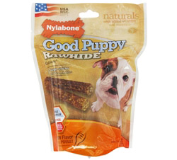 Good Puppy Rawhide With Calcium Large Dog Treats Chicken CLEARANCE PRICED
